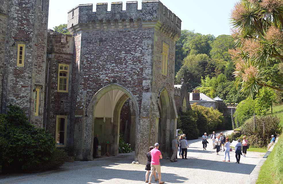 Caerhays castle was the location for Miss Peregrine's Home for Peculiar Children by Tim Burton.