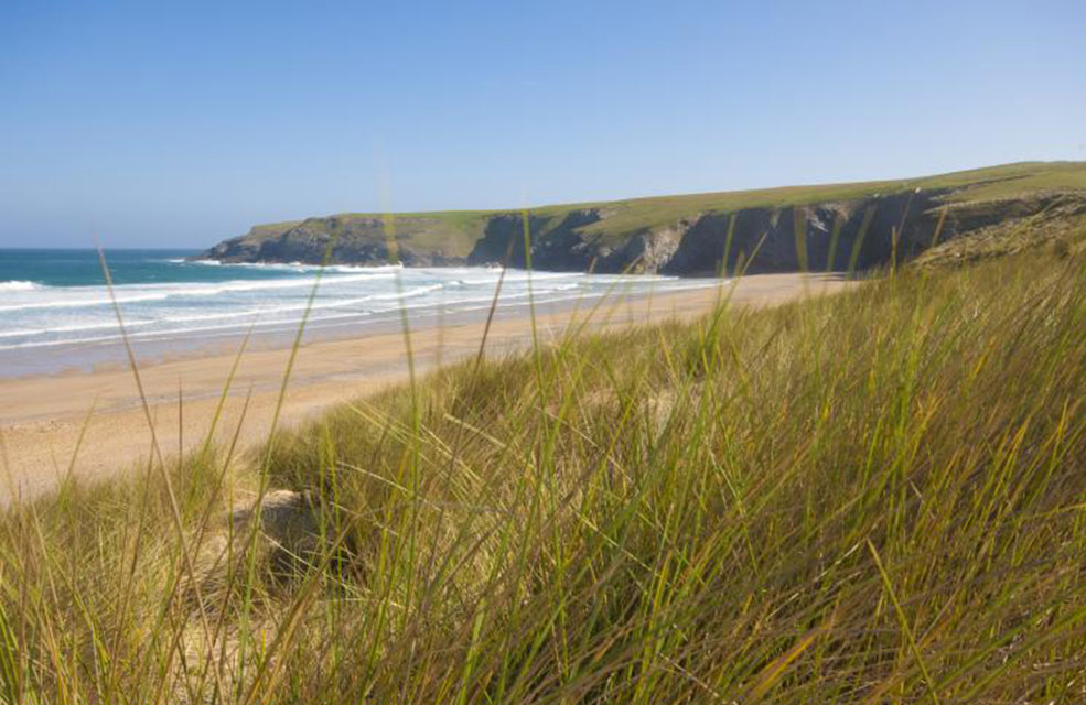 Be like Bond on the beach at Holywell in Cornwall.