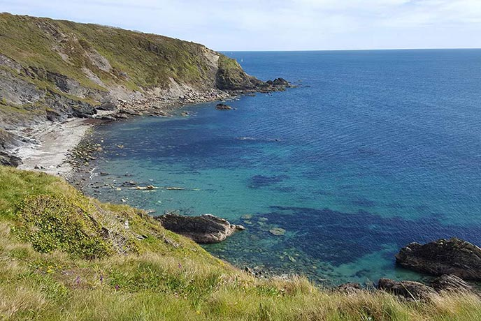 Gribbin Head walk takes in some beautiful views of the south coast of Cornwall.
