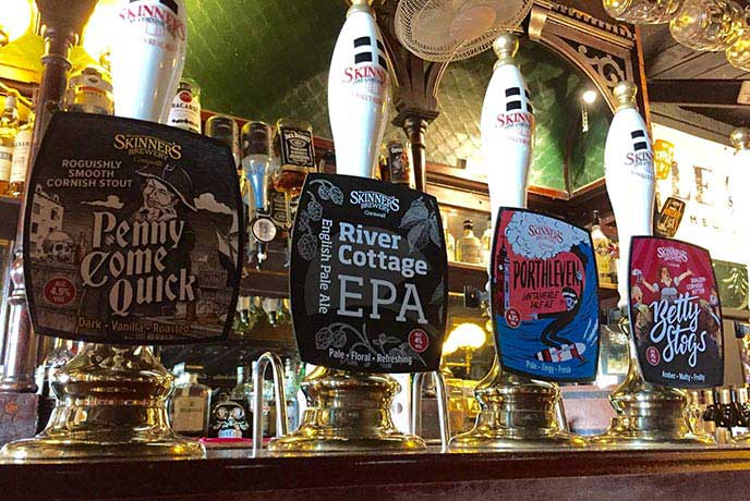 Take your pick of real ales at the Old Ale House in Truro.
