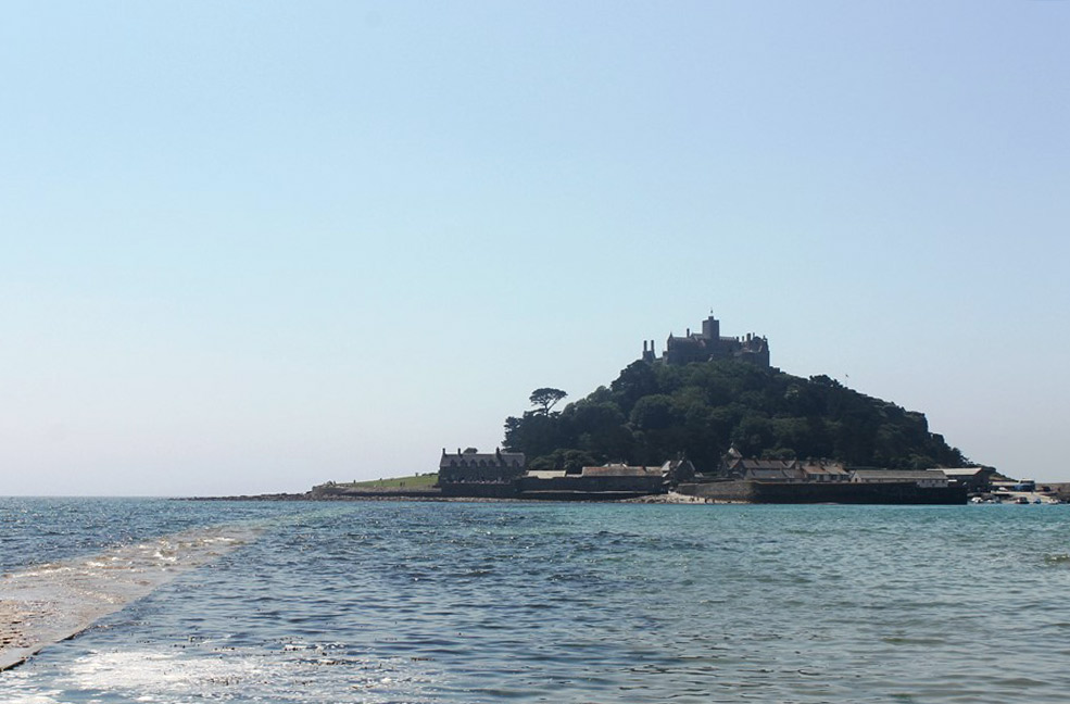 St Michaels Mount on foot or by boat is a great way to spend a sunny day in Cornwall.