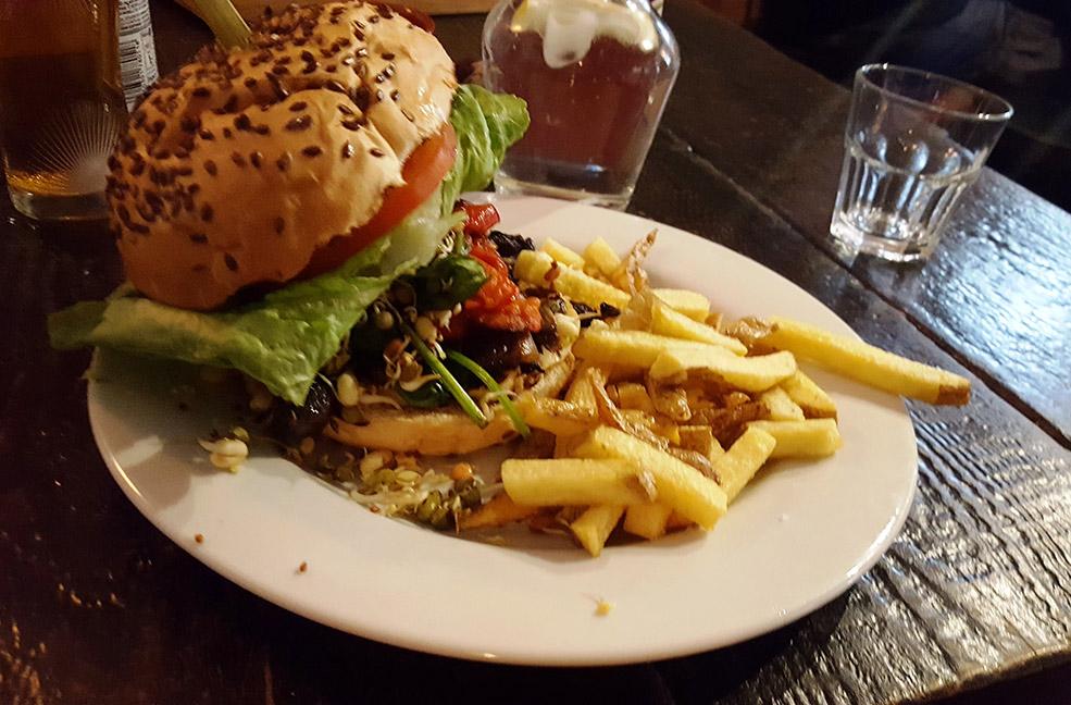 Find tasty vegan and vegetarian burgers at Blas Burgerworks in St Ives, Cornwall.