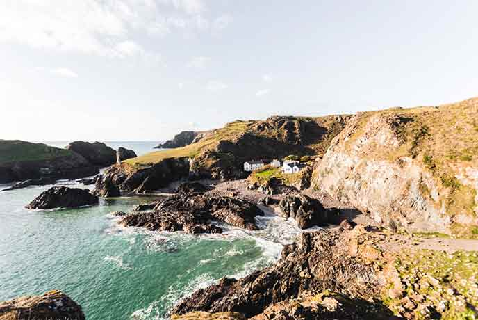 The iconic cove of Cornwall; Kynance is a breath-taking place to take your four legged friend.