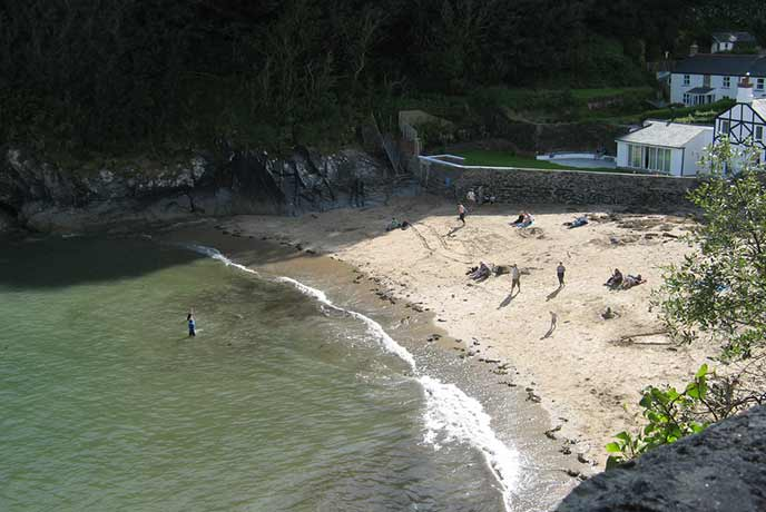South of Fowey is the gorgeous Readymoney Cove, sheltered by cliffs and boasting rockpools, this is a lovely spot for a winter stroll.