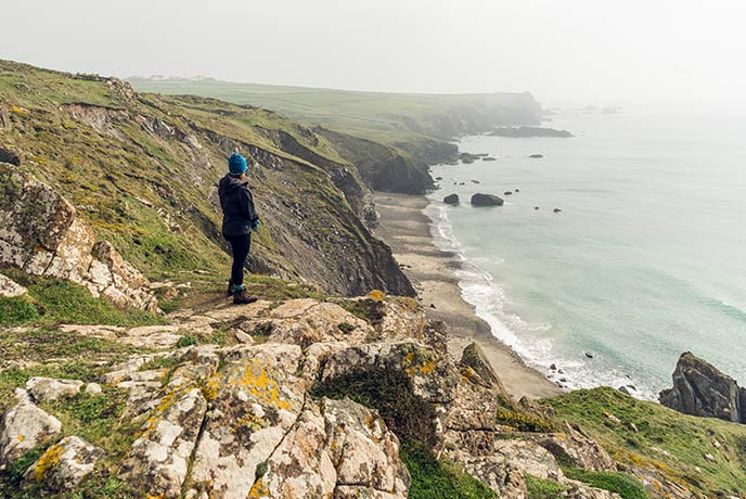 The South West Coast path is a beautiful place to get active while on holiday in Cornwall.