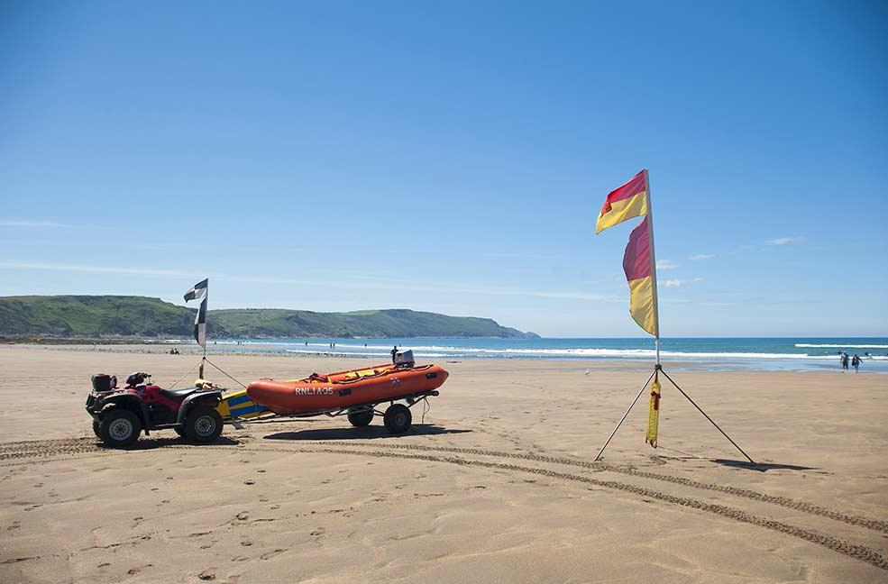 Bude lifeguard beach