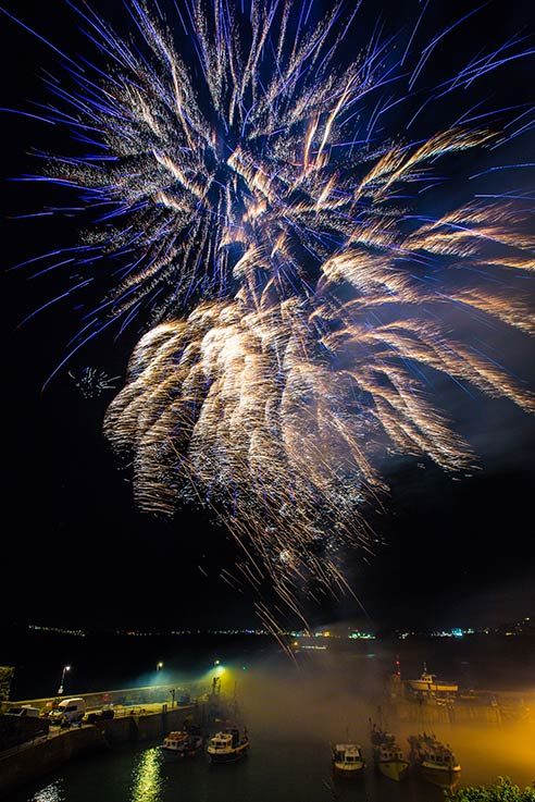 Newquay fireworks by Mike Searle Photography