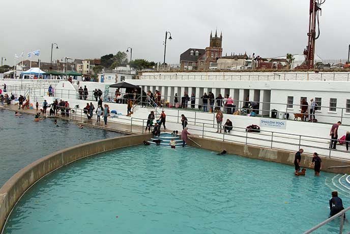 Jubilee Pool in Penzance was filled with dogs for their annual dog day.