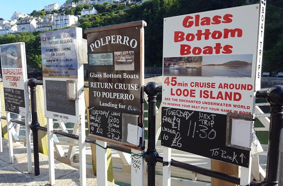 Boat trips to Looe island