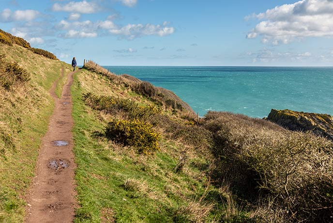 Coastal walks in Cornwall are a great way to see the local scenery.