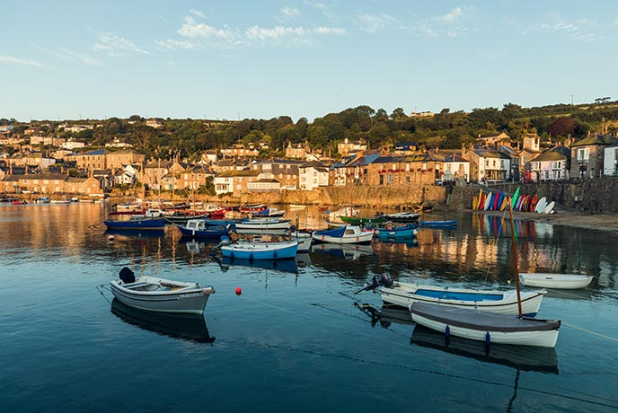 The harbour in Mousehole is a historic and peaceful place to relax.