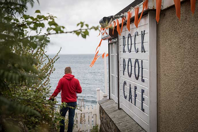 The Rock Pool Cafe is a culinary hot spot in Mousehole.