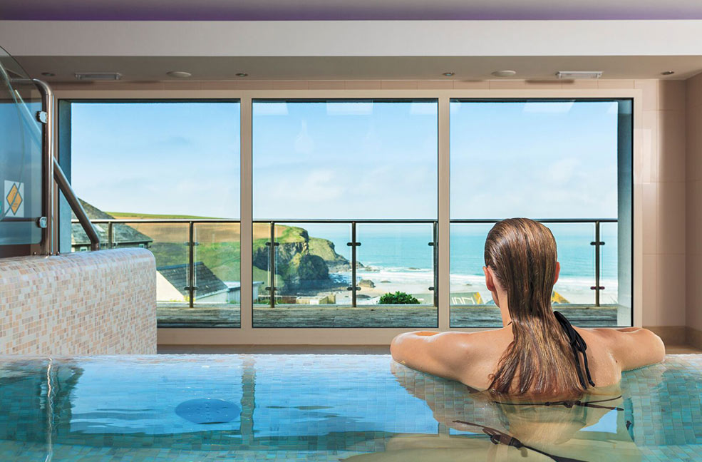 Quirky valentine 39 s in cornwall for Hotels in cornwall with indoor swimming pool