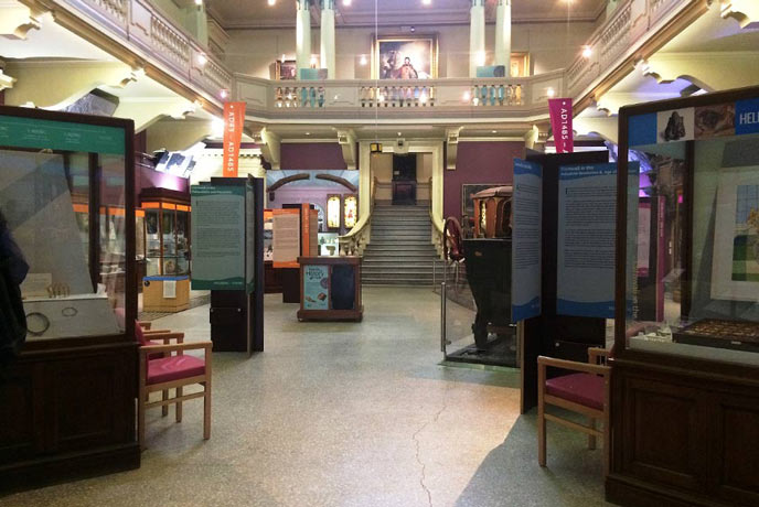 Entrance exhibition Royal Cornwall Museum