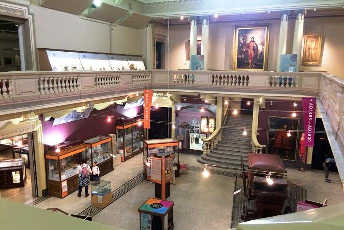 First floor gallery Royal Cornwall Museum