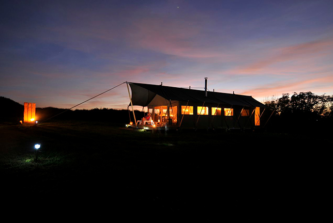 Spend your evenings under the stars in a Safari Tent.