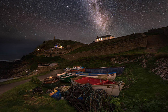 Let the night sky light up your evenings on your Cornwall holiday.
