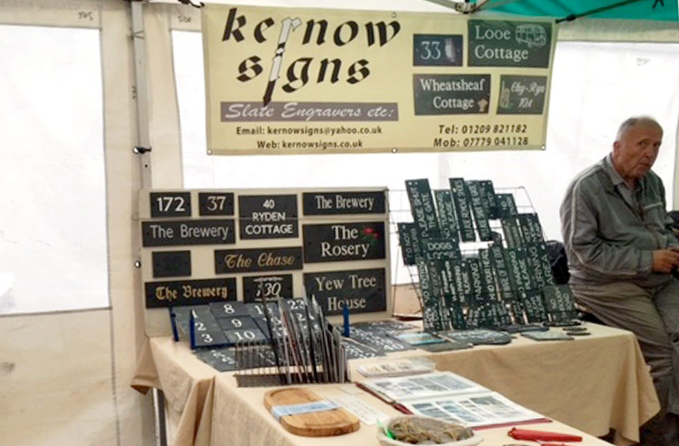 Kernow Sign Truro farmers market