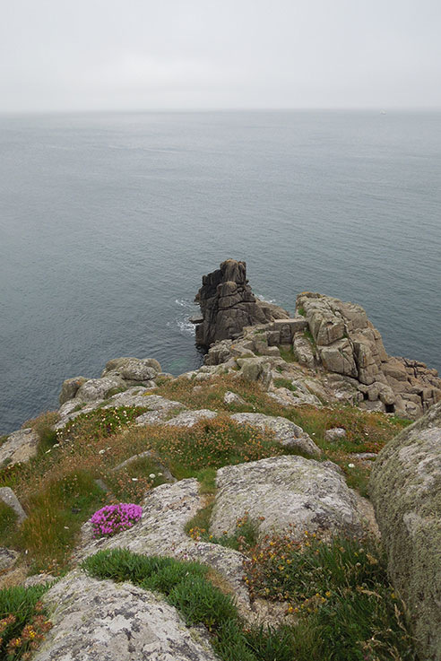 A grey day at the Minack