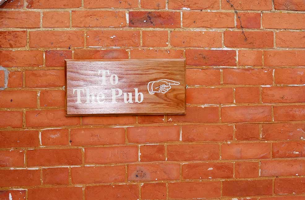 To the pub