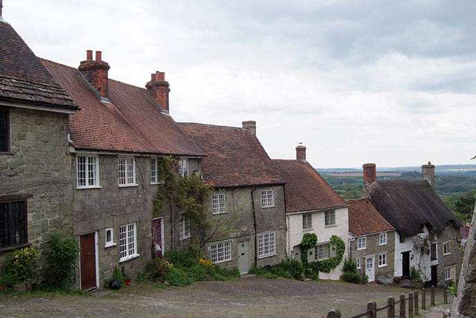 The iconic Gold Hill in Shaftesbury.