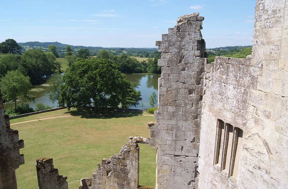 A view from Old Wardour Castle