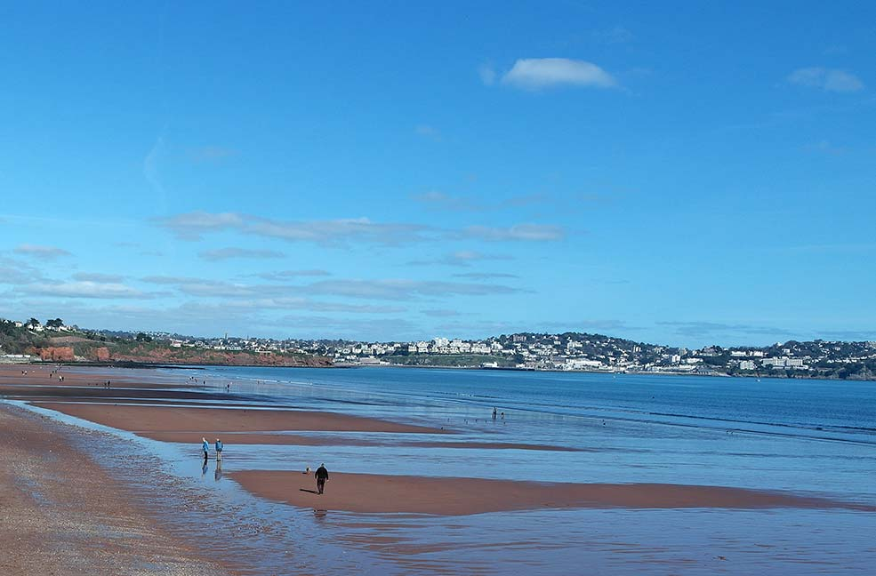 Preston Beach to Hollicombe Paignton dog walk in Devon