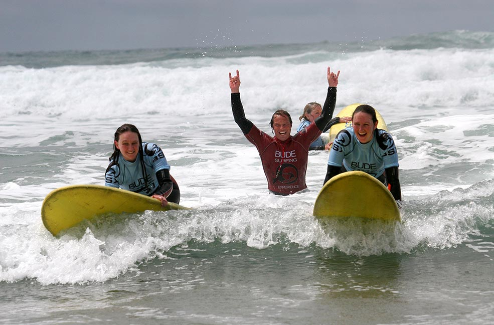 Hooray for surfing at Bude