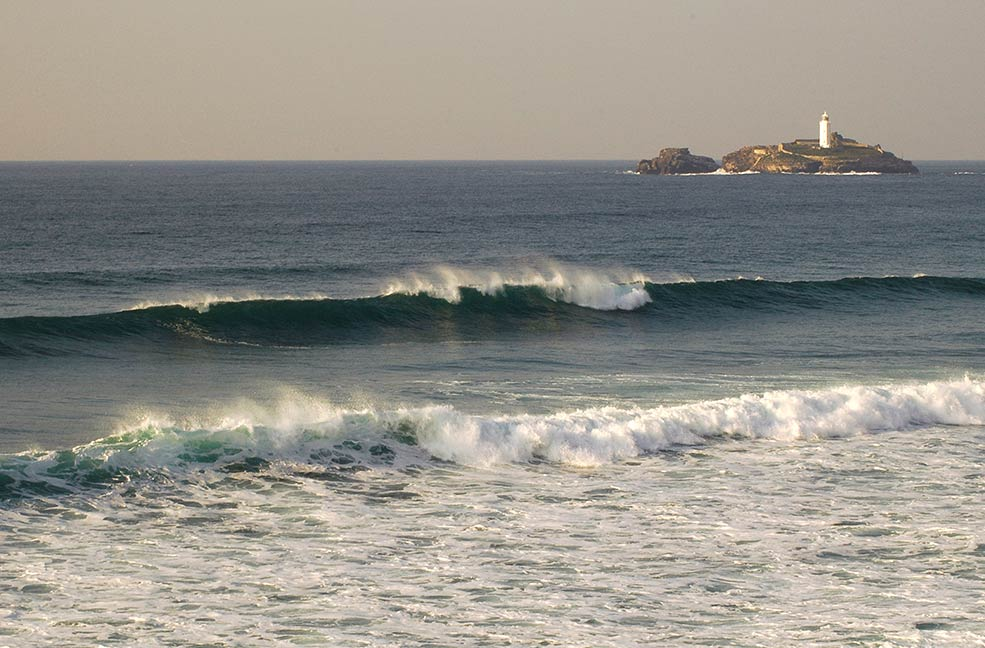 Godrevy beach for surfing