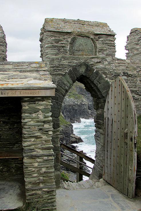 Tintagel castle arch