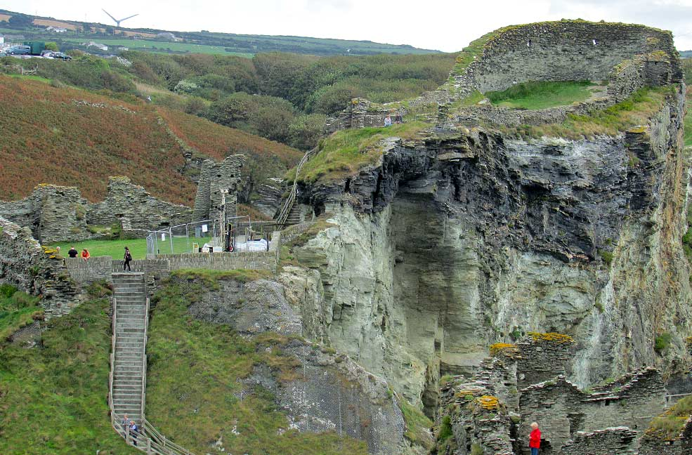 The steps to Tintagel Castle