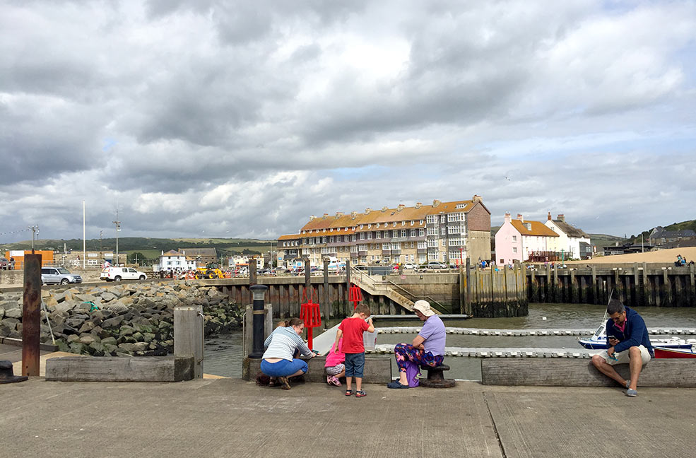 Family crabbing competition