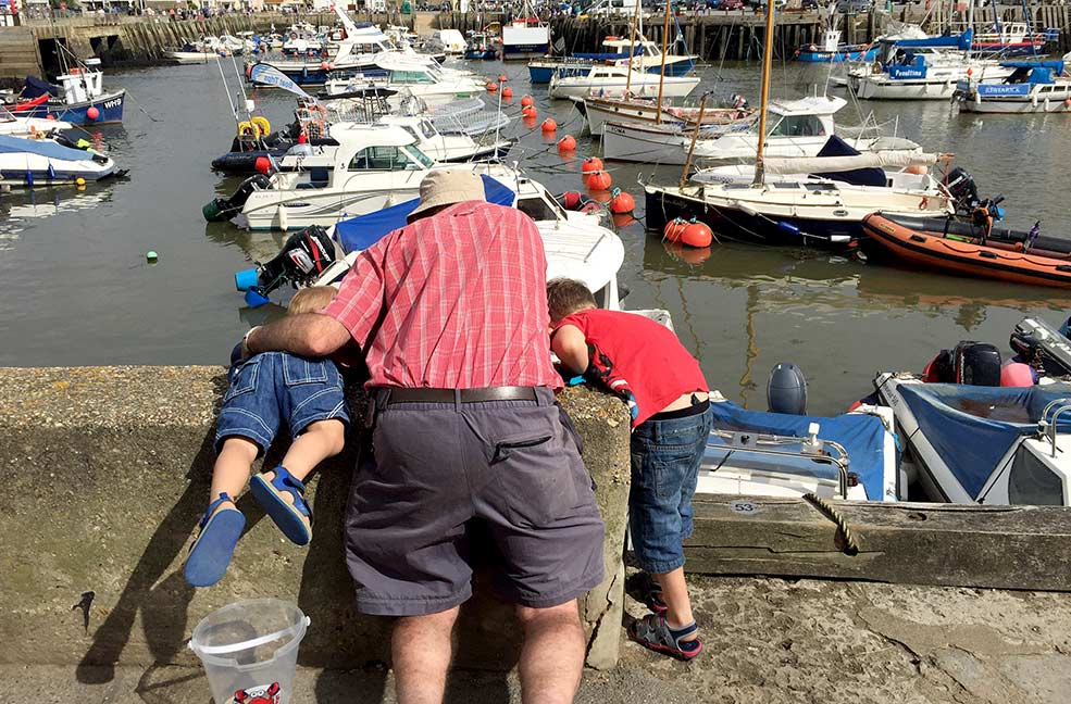 Crabbing competition in West Bay