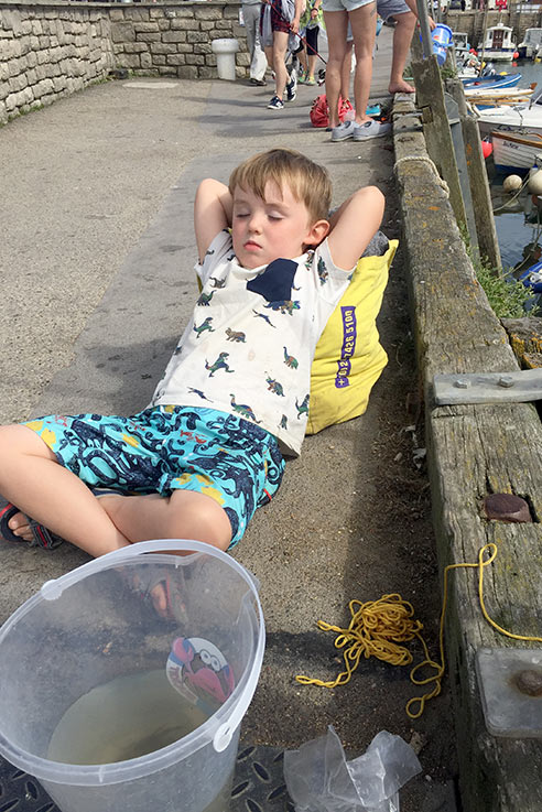 Patience is required for crabbing!