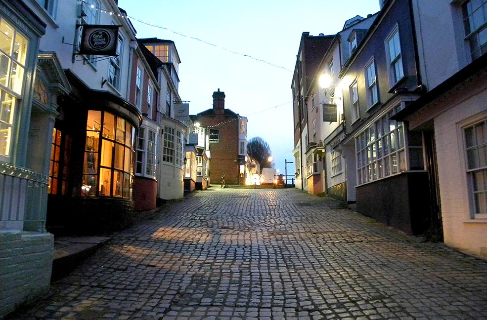 Cobbled streets of Lymington