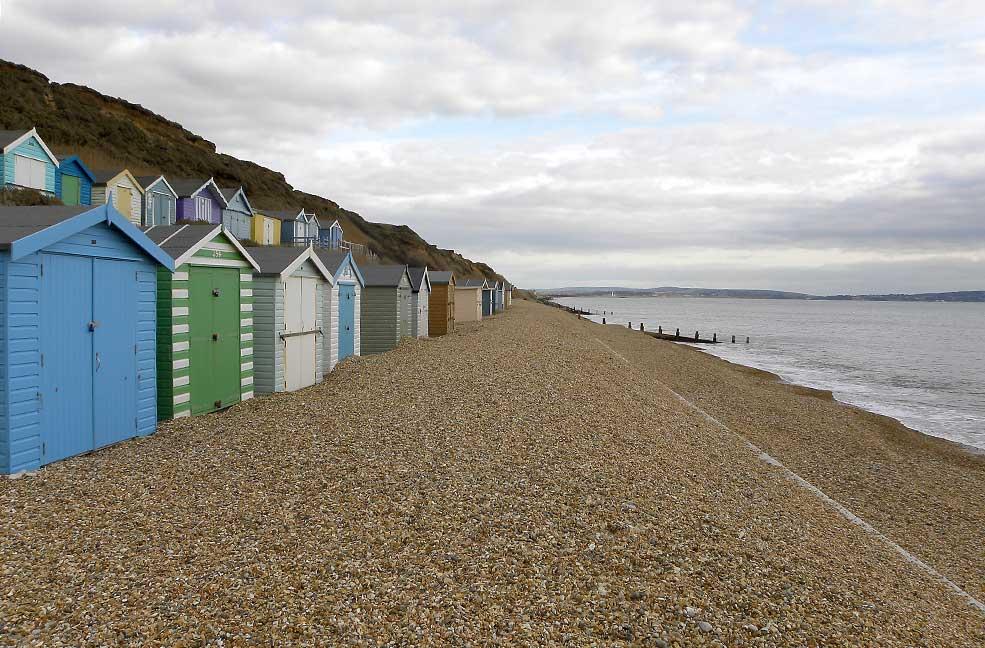 Barton on Sea beach huts