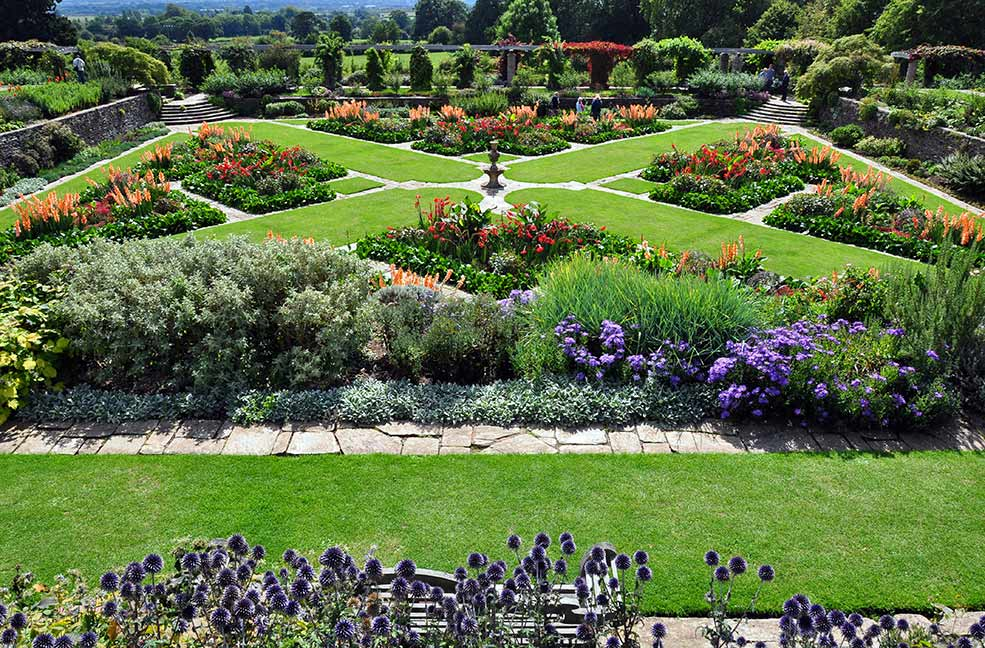 The formal gardens at Hestercombe are beautiful in the spring and summer.