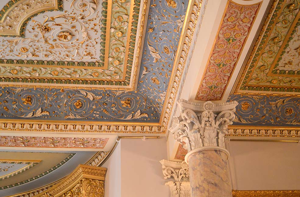 Osborne ornate ceiling