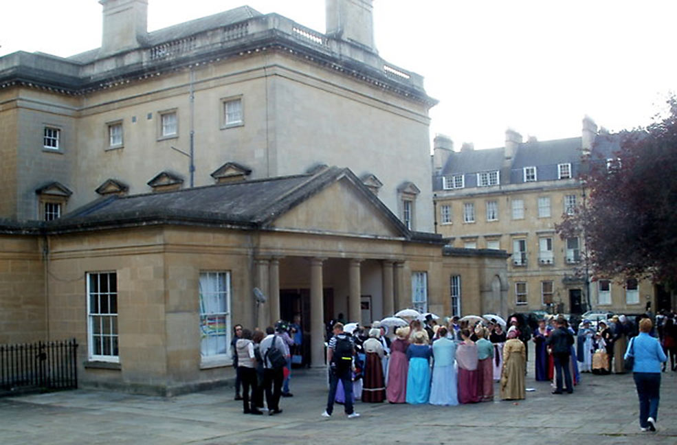 Jane Austen festival costumes in Bath