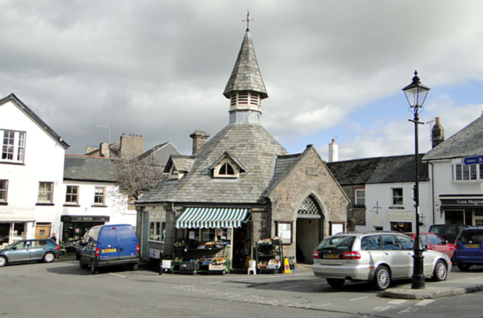 The market town of Chagford on Dartmoor