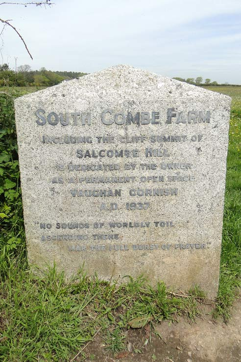 South Combe Farm entrance stone