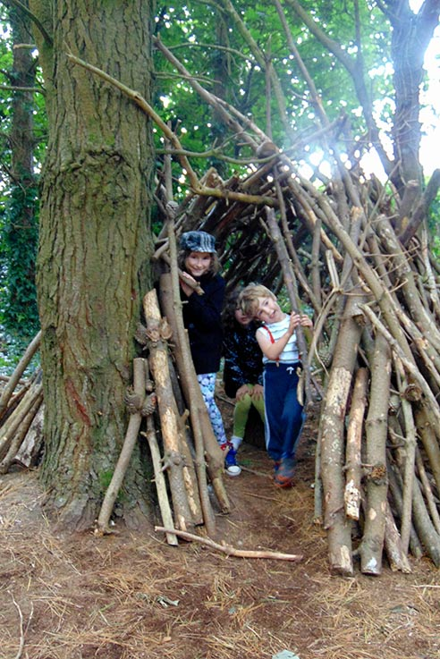 Coleton Fishacre Den building