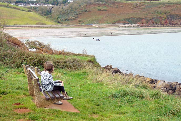 Watch the world go by from the benches by Broadsands Beach.