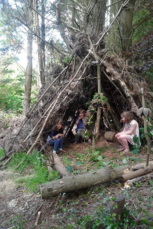 Den building at Coleton Fishacre