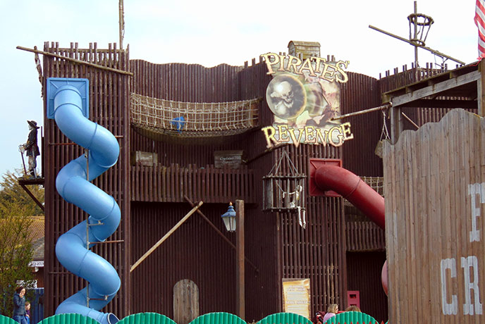 Let the kids burn off some energy at the Pirate's Revenge play area.