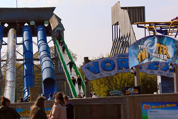 The waterslides are absolutely amazing at Crealy Adventure Park.