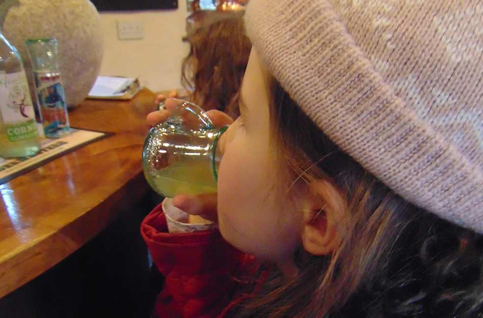 Apple juice at the Cyder Farm