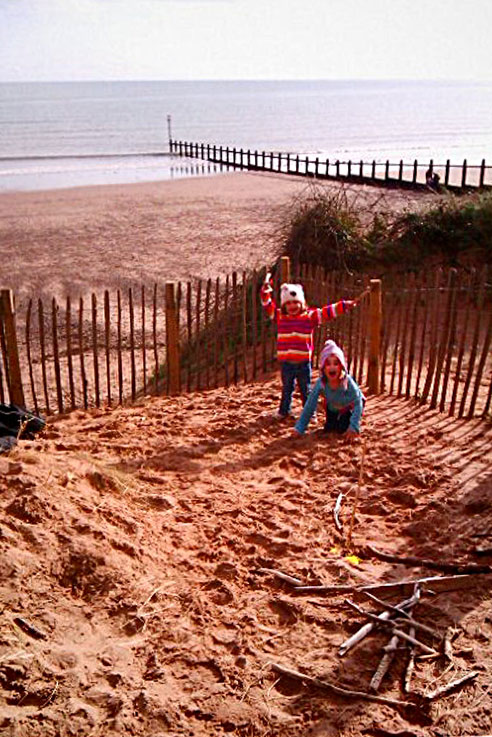 Dawlish beach family