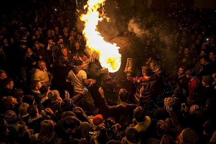 Tar barrels are something you won't see anywhere else! This fun November night is a cool Devon tradition.