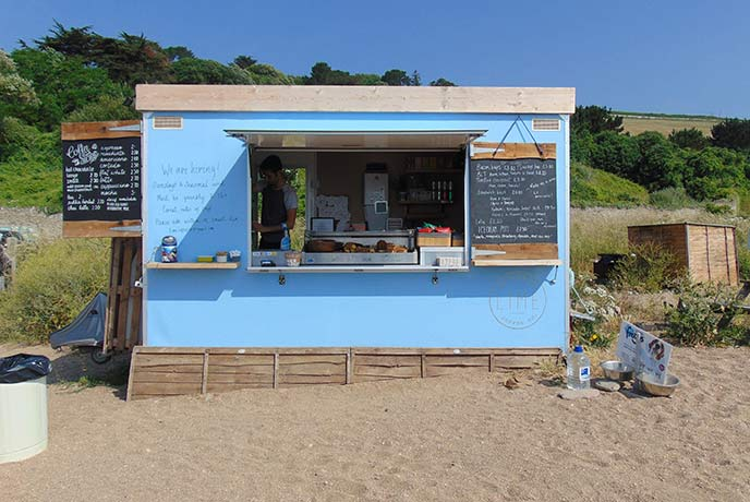 The Lime Coffee Company shack is right on the beach and perfect for a coffee stop in the summer.